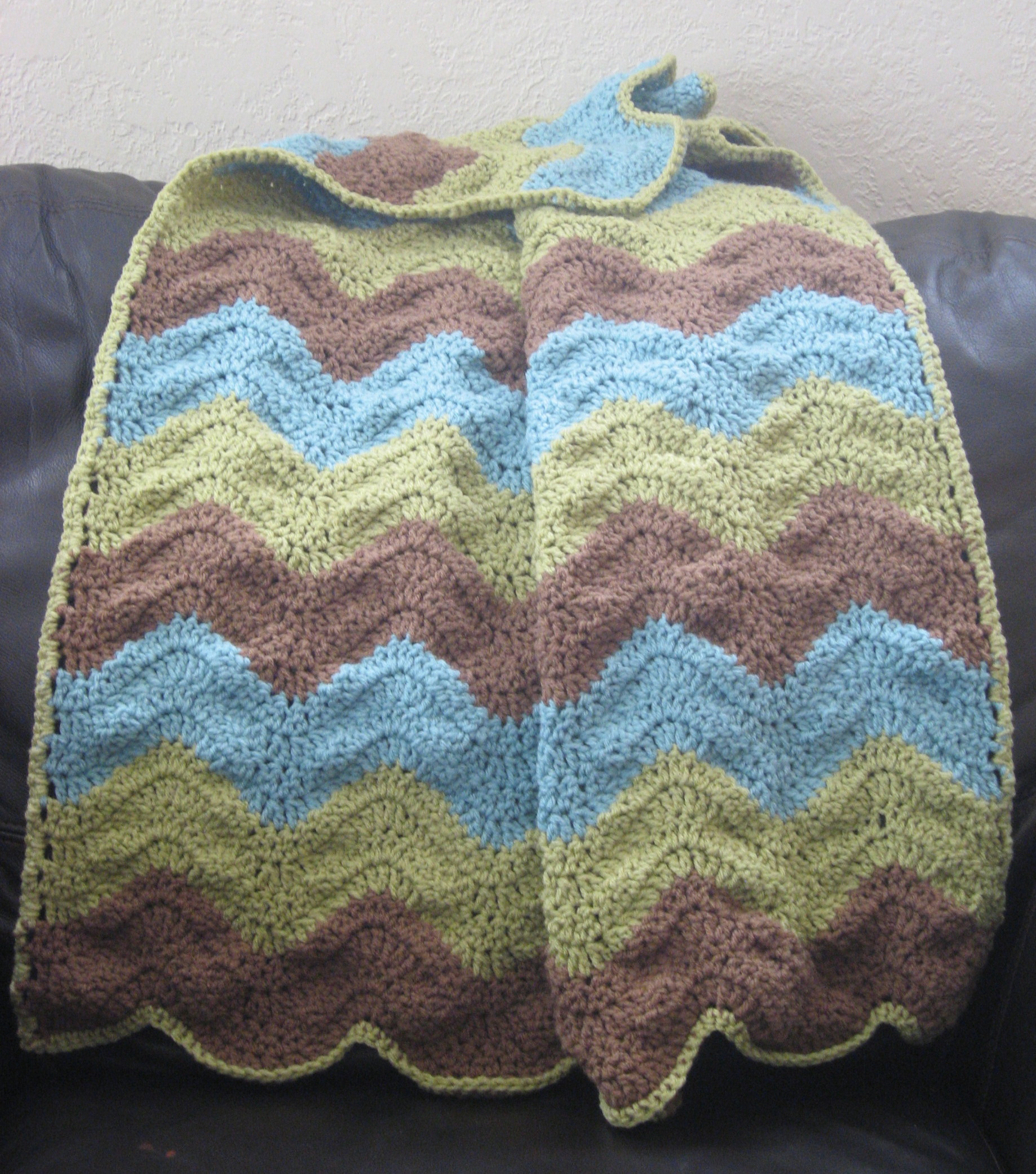 Crochet Blocking Ripple Baby Afghan Tardy Homemaker